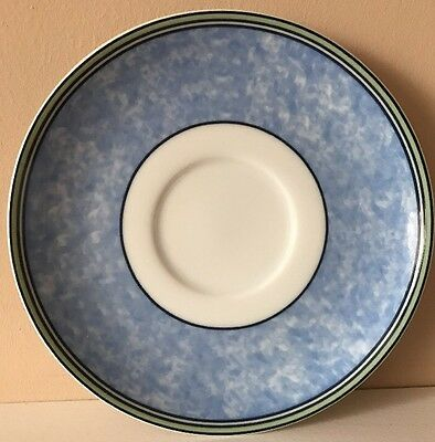 Wedgwood Home-Watercolour Saucer Blue & Green- Perfect