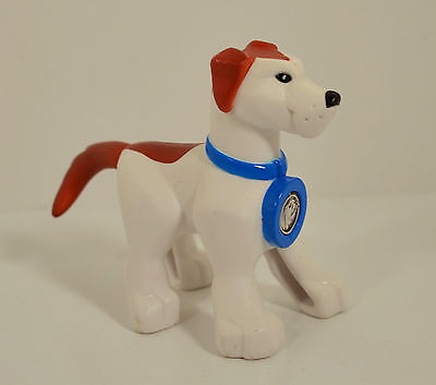 """2007 White Dog 3.75"""" Earth Ace Canine Companion Pet Planet Heroes Action Figure"""