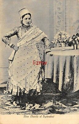 India Glamour Ethnic Miss Chanda Of Hyderabad Native Singer Poses Printed Card