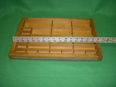 Vintage Wood Printers Type Set Tray Letter Press Drawer Shadow Box