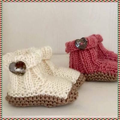 Knitting Pattern Baby Booties 0-3 months boots baby shoes easy pattern