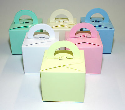 24  Single Cupcake / Favour Boxes Plain Mixed Colours   Any Combination