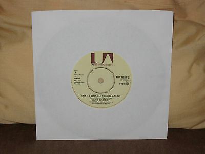 """BING CROSBY That's What Life Is All About 1975 UK 7"""""""