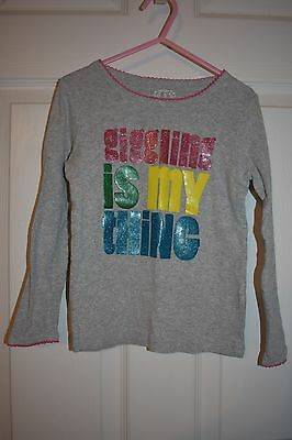 Giggling is my thing graphic t shirt girls Sz 5T