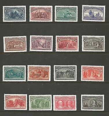 Us. Scott ## 231-245. 1893Colombian Exposition Issues. Mnh. See Description.