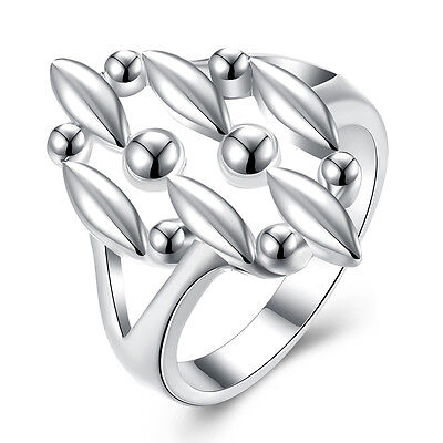 Sterling Silver Plated Fashion Ring For Women B356