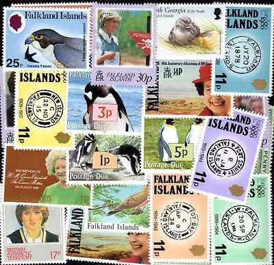 FALKLAND Iles - FALKLAND ISLANDS collections de 10 à 200 timbres différents