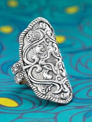 Silpada Helen of Troy Filigree Engraved Ring Sterling Silver NEW sz 11