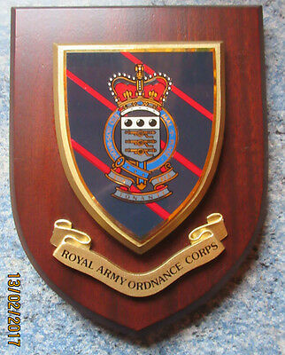 Wooden Plaque of Royal Army Ordnance Crops