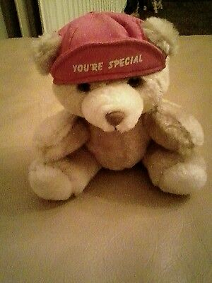 Russ bear on hat says your're special