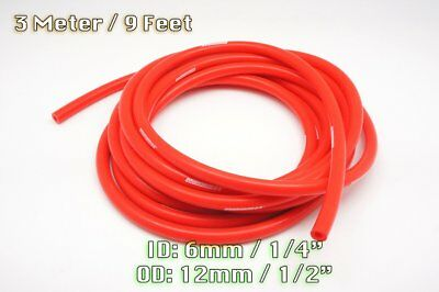 3 Meters Red Silicone Vacuum Hose Air Engine Bay Dress Up 6Mm Fit Mini Saab