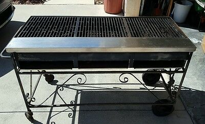 "Lazyman Barbecue 48"" Inch BBQ Gas Grill & Cover 3 16x16 Grills 6 Burner PICK UP"