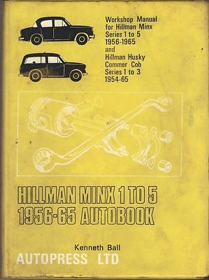 Hillman Minx,series 1 To 5,husky,commer Cob Autobooks Workshop Manual 1956-1965