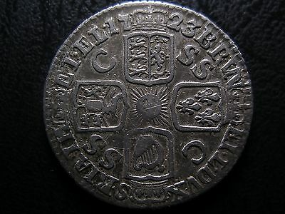1723 George I Silver Sixpence Coin With Die Error