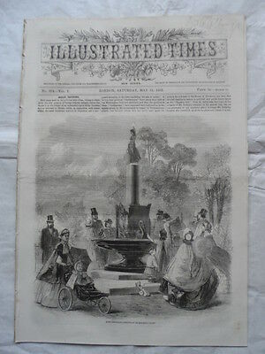 Illustrated Times - 31/5/1862 - Civil War, Merrimac, Catching Swordfish Sicily