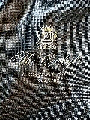 "Black Suit Carrier Garment Bag ""The Carlyle"" New York"