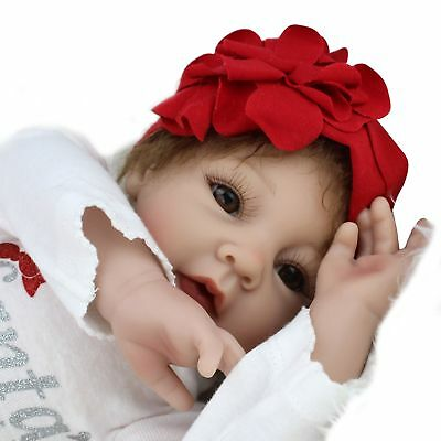 Handmade Collectible Reborn Baby Girl Dolls Lifelike Vinyl Silicone Newborn Baby
