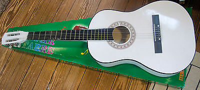 """White acoustic guitar 38"""""""