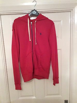Polo Ralph Lauren Mens Red Hoodie Small