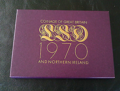 1970 Royal Mint Proof Coinage Of Great Britain In Presentation Pack