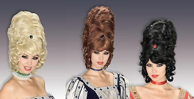 60's 70's Retro Beehive Wig Tall Hair Victorian Queen Western Costume Accessory
