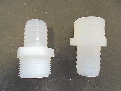 "Nylon Barb To NPT Adapter   3/4"" NPT X 3/4"" HB Set Of 2"
