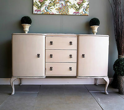 Vintage French Style Sideboard Dresser Cabinet Hand Painted Shabby Chic