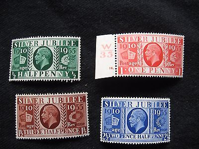 GB: 1935 Silver Jubilee UMM  (MNH) set of 4 (1d with control no)