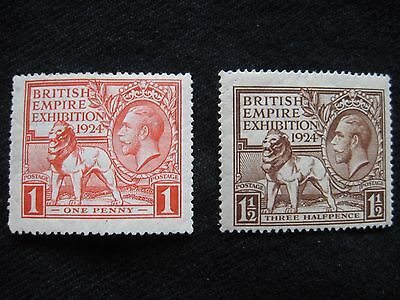 GB: 1924 Empire Exhibition MM (MH) Set of 2