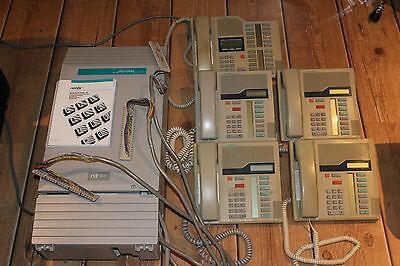 Nortel 0X32 Modular ICS with 5 phones M7208 NT8B40AB Meridian