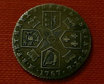 1787 George Iii Silver Sixpence Coin