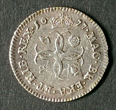 1677 Charles Ii Silver Maundy Fourpence Coin