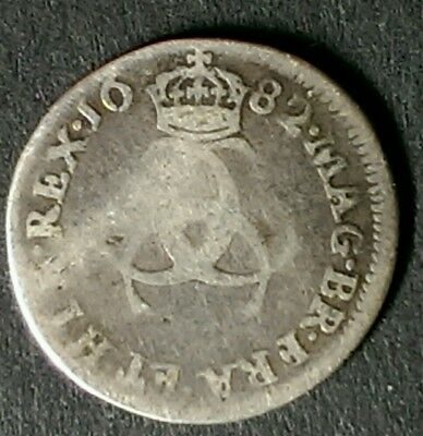 1682 Charles Ii Silver Maundy Threepence Coin