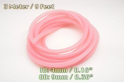 3 Meters Clear Pink Silicone Vacuum Hose Engine Bay Dress Up 4Mm Fit Ford