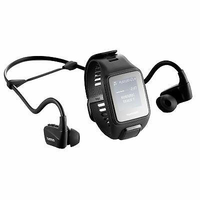 TomTom Spark 3 Cardio+ Music GPS Fitness Watch Headphone Bundle Black Size Large