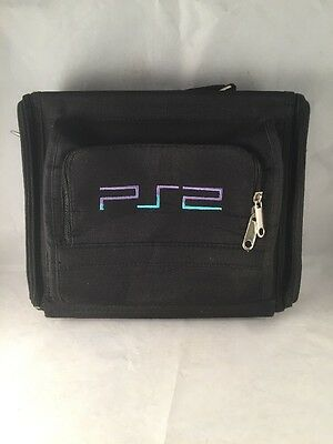 Official Sony Playstation 2 Ps2  Console Carry Case / Bag - Black - Slim -