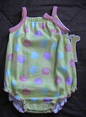 Yellow & Orange Romper With Colorful Pineapples-Size 3 Months-Nwt