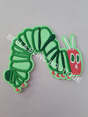 1 Embroidered Boys Girls Hungry Caterpillar Iron On Sew On Patch Clothes Craft