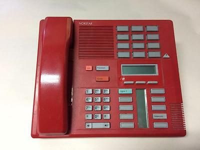 Red M7310 Nortel Norstar Nt8B20Bb-23 W/ Handset (Missing Cord + Screen Cover)