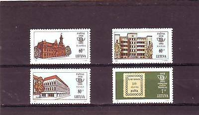 LITHUANIA - SG545-548 MNH 1993 75th ANNIV 1st POSTAGE STAMPS