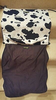 pupabag cosy toes footmuff pushchair cover blanket cow