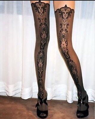 Wolford 'Medallion' Tights Size Medium