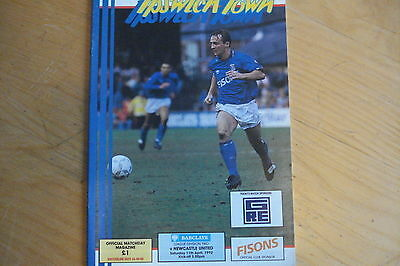 Ipswich Town V Newcastle United                                          11/4/92
