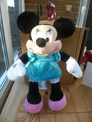 "Disney Store Genuine Minnie Mouse Soft Plush Toy - Size 12"" Tall - Vgc"