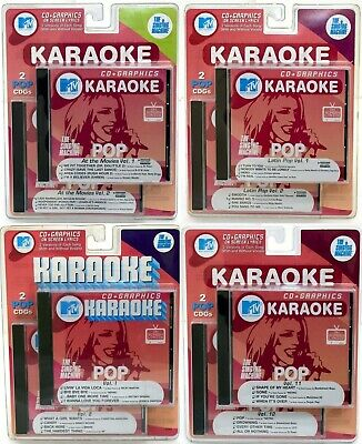 SEALED NEW MTV Singing Machine Karaoke Pop+Latin+Movies Music 8-CD+G Graphics 2