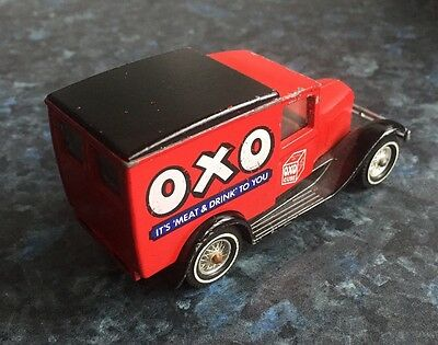 Matchbox OXO Ford Model A Van. Red & Black. Made In Great Britian.