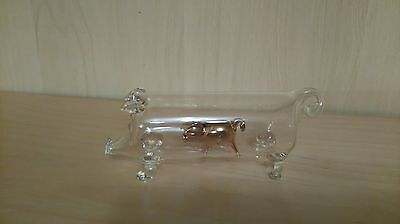 Hand blown glass pig / animal