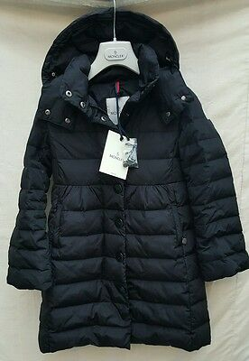 girls Stunning MONCLER junior DOWN padded long jacket coat hooded age 10 years
