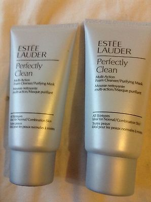 ESTEE LAUDER PERFECTLY CLEAN x2 foam cleanser NEW all skin tones face wash