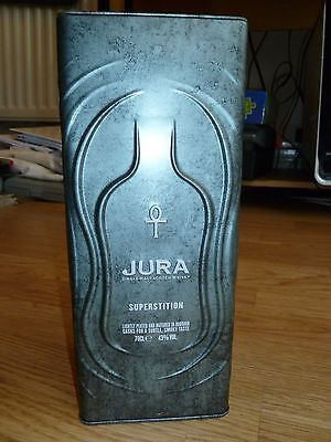 JURA Superstition Empty Scotch Whisky Tin Collectable Special Edition metal rare